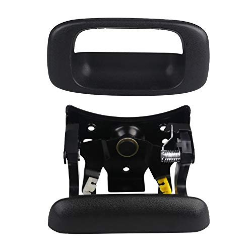 Gmc Sierra Denali Tailgate Handle - VANJING Tailgate Handle Latch and Bezel Trim Replacement with Clips Fits for 1999-2007 Chevrolet Silverado&GMC Sierra 1500,1500HD,2500,2500HD,3500 Classic Pickup-Replaces 15997911, 15228539, 15228541