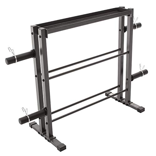 Marcy Combo Weights Storage Rack for Dumbbells, Kettlebells, and Weight Plates DBR-0117 (Renewed)