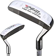 Golf Putter Men and Women Two Way Golf Clubs Stainless Steel Head Left Hand & Right Handed Push Rod Outdoo