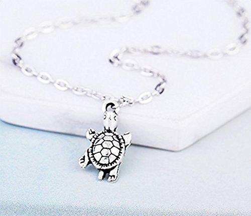 AIUIN Bracelet de Cheville Femmes Filles en Argent Mignonne Petite Forme de Tortue cha/îne Bracelet de Cheville Pieds Nus Bijoux de Plage 1pcs 21cm