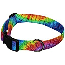 Elmou0027s Closet Tye Dye Burst Dog Collar   Large