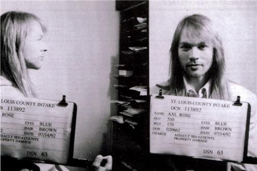 AXL ROSE MUG SHOT GLOSSY POSTER PICTURE PHOTO mugshot guns axel rock roses ()