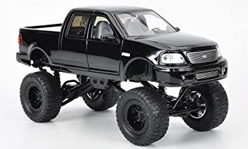 Ford F 150 High Profile Monstertruck Schwarz Modellauto Fertigmodell Jada 1 24 Spielzeug