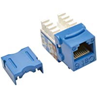 TRIPP LITE Cat6 Cat5e 110 Style Punch Down Keystone Jack, Blue, 25-Pack (N238-025-BL)