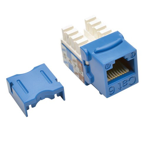 TRIPP LITE Cat6 Cat5e 110 Style Punch Down Keystone Jack, Blue, 25-Pack (N238-025-BL) by Tripp Lite