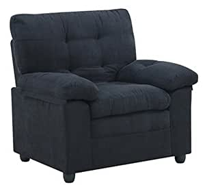 Upholstery Upholstered Microfiber Chair Club Seat With Padded Arm