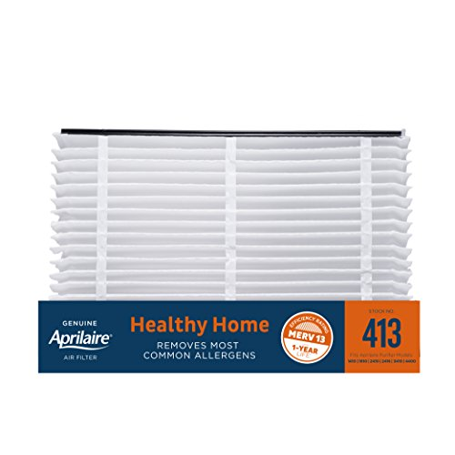 Aprilaire 413 Healthy Home Air Filter for Aprilaire Whole-Home Air Purifiers, MERV 13, for Most Common Allergens (Pack of 1)
