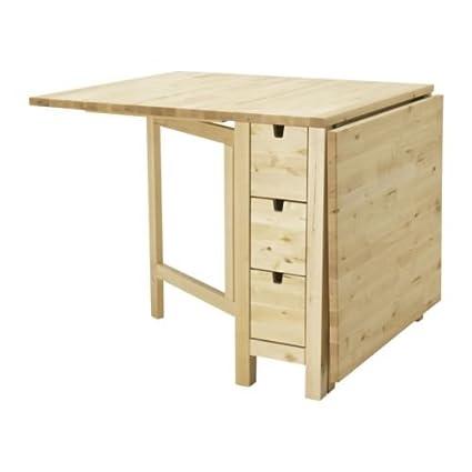 Marvelous Ikea Gateleg Table, White 1626.2928.1014