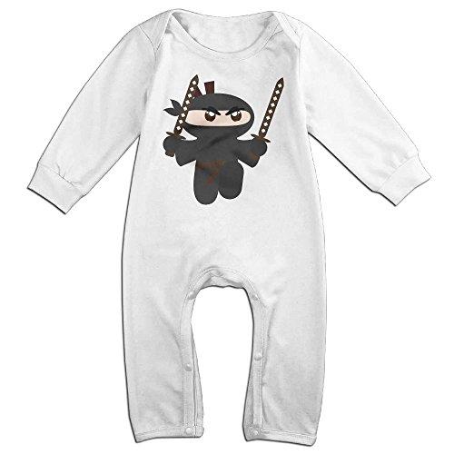 Eilinqch Cute Ninja Baby Boys Girls Cute Long Sleeve Romper Jumpsuit Bodysuit 12 Months White