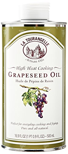 La Tourangelle Grapeseed Oil - Cooking & Body Care - Expeller-Pressed, Non-GMO, Hexane-Free, Kosher - 16.9 Fl. Oz.