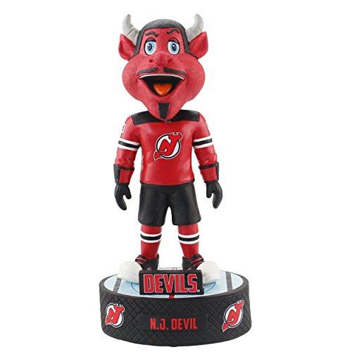 (FOCO NHL New Jersey Devils Mascot Baller Bobble, Team Color, OS)