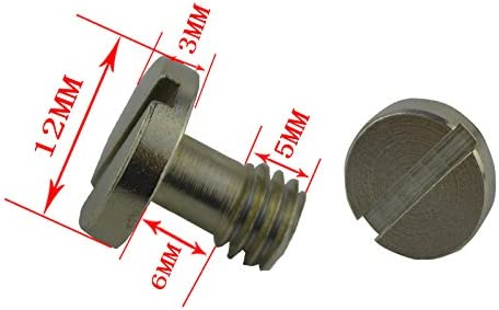 HUIFANGBU 1//4 to 3//8 Stainless Steel Screw for Tripod and Tripod Heads Silver