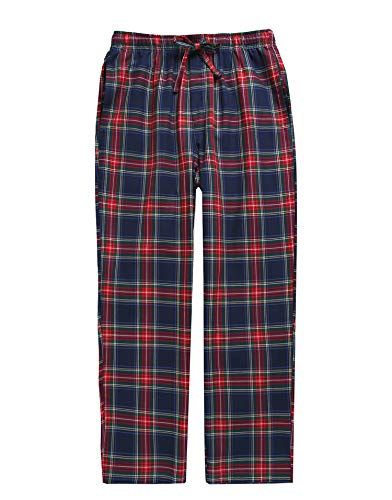 - TINFL Boys Plaid Check Soft 100% Cotton Lounge Pants BLP-PM47-Rednavy-M