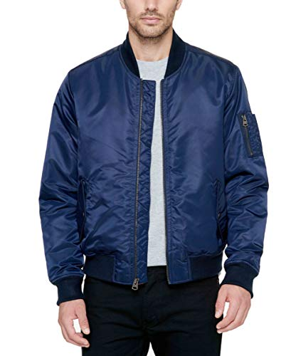 Levi's Men's Ma-1 Flight Jacket, Navy, Medium ()