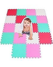 qqpp Alfombra Puzzle para Niños Bebe Infantil - Suelo de Goma EVA Suave. Alfombra Puzzle Bebe en Doce Combinaciones de Colores.