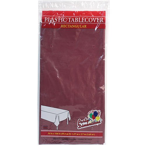 Plastic Party Tablecloths - Disposable, Rectangular Tablecovers - 4 Pack - Berry - By Party Dimensions