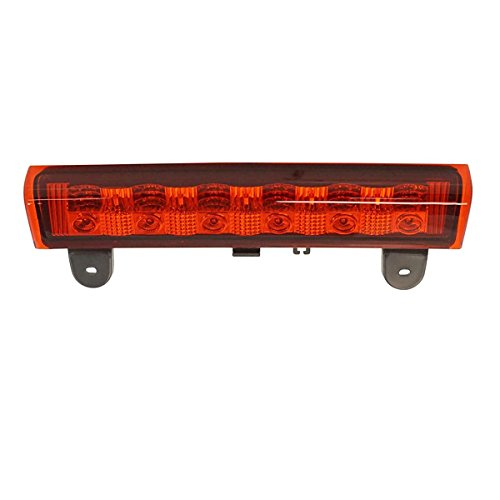 Black Housing Red Lens High Mount Stop Light 3rd Third Red Brake Light for 2000-2006 Chevy Suburban Tahoe