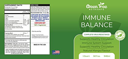 100% Nutrition Advanced Immune Balance Liquid Supplement - Complete Bacteria Resistance