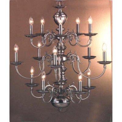 Classic Lighting 67115 G Williamsburg, Chandelier, 24k Gold Plate