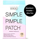 SIMPLE PIMPLE PATCH - Hydrocolloid Acne & Blemish Patches   Quick Invisible On the Go Natural Breakout Treatment   Stress & Mess Free Dot Covers for Zits & Whiteheads   Discreetly Absorbs Gunk & Oil