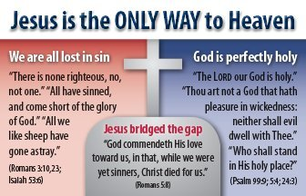 Jesus Is The Only Way (Mini Gospel Tract Card, Packet of 100, KJV)