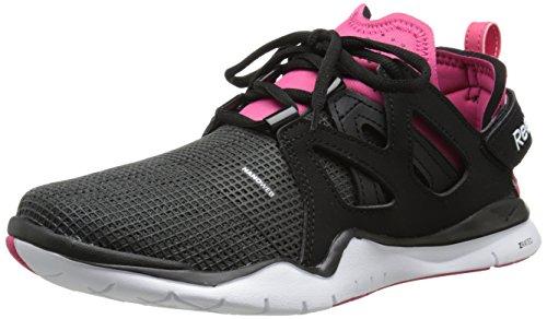 Reebok Women's Zcut TR Training Shoe, Black/Gravel/Blazing Pink/White, 8.5 M US
