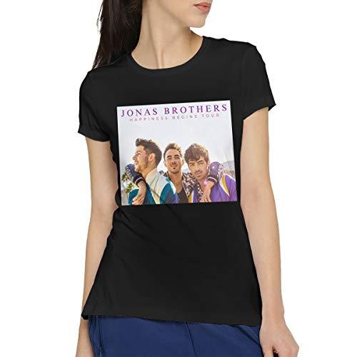 RVFGE Jonas Brothers 2019 Tour Women's Short Sleeve Cotton T-Shirt Black M