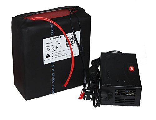 48V-12AH LIFEPO4 BATTERY PACK POWER FOR EBIKE NEW CELL WITH A CHARGER
