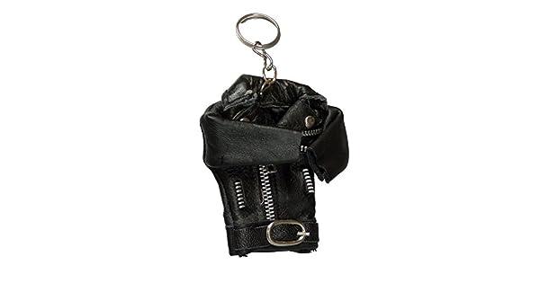 Amazon.com: Mini Piel Auténtica Biker chamarra de moto ...