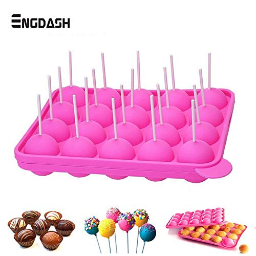 Cookie Cutter|Cake Molds|20 Hole Silicone Tray Pop Cake Stick Mould Lollipop Party Cupcake Baking Mold Ice Cream Sphere Maker Chocolate Mold|By REDDEATH by REDDEATH (Image #6)