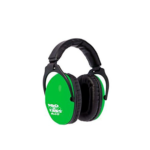 (Pro Ears - ReVO - Hearing Protection - NRR 25 - Youth and Women Ear Muffs - Neon Green)