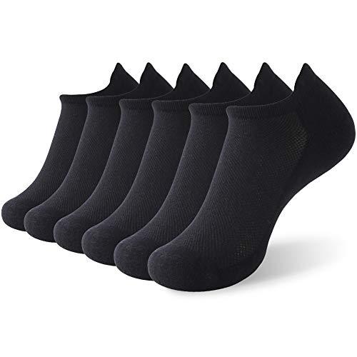 - No Show Sports Socks,Vive Bears Women's Girls Cool Mesh Golf Socks Moisture Wicking Low Cut Cotton Socks Tab Socks Anti-slip Performance Athletic Running Socks,6 Pack,Black
