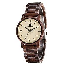 Wood Watch for Men Quartz Mens Watch Engraved