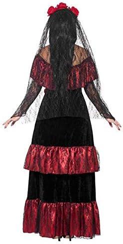 DISBACANAL Disfraz Novia de la Muerte Mexicana - -, M: Amazon.es ...
