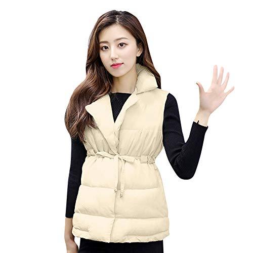 GOVOW Cotton Jacket Women Lightweight Thick Outerwear Sleeveless Coat Short Slim Coats -