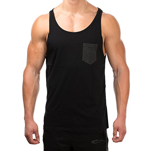 SMILODOX Tank Top Men with Breast Pocket | Muscle Shirt Ideal for Sports...