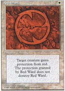 Magic: the Gathering - Red Ward - Fourth Edition