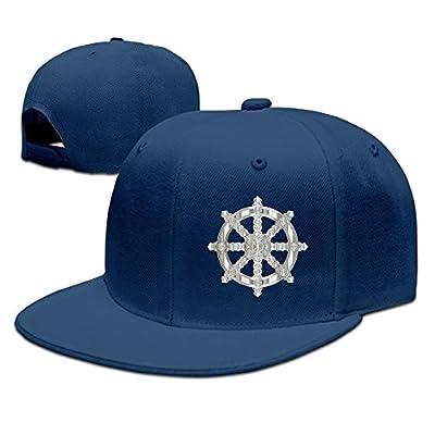 Ornate Buddhist Symbol Solid Flat Bill Hip Hop Snapback Baseball Cap Unisex sunbonnet Hat.