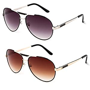 """Quattro"" Thin Aviator Style Fashionista Metal Frame Flat Flash Lenses Sunglasses"