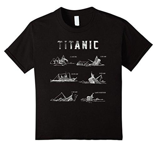 Kids Titanic April 1912 T Shirt Tee Ship Voyage Atlantic Ocean 12 Black