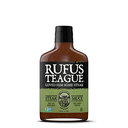 (Rufus Teague STEAK SAUCE - 7oz Bottle - Finally a Sauce Worthy of Steak! - Kansas City - Thick & Rich made with Premium Ingredients - Certified Gluten-Free, Kosher & Non-GMO Verified)
