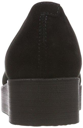 Scarpa Da Donna Beth Plateau Ballerinas Nero (pelle Scamosciata Di Capra Nera)
