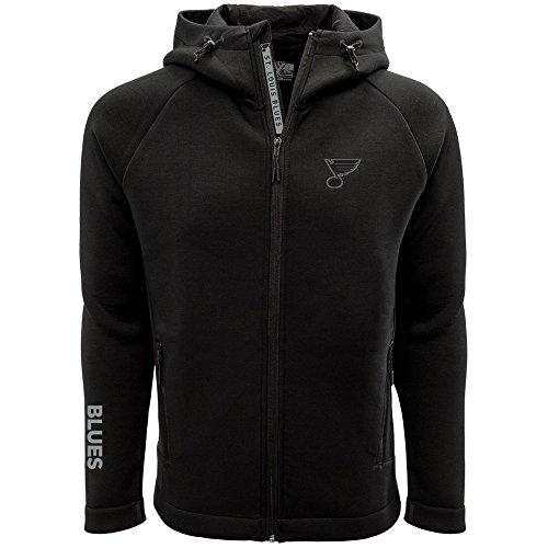 Levelwear LEY9R NHL St. Louis Blues Adult Men Titan Insignia Bold Full Zip Hooded Jacket, X-Large, Black