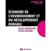 Économie environnement et dev.