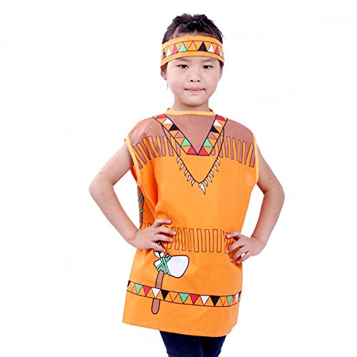TOPTIE Occupations Costumes with Hats for Kids Role Play Dress Up Costume-Indian-S