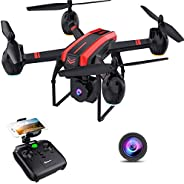 SANROCK X105W Drones with 1080P HD Camera for Adults and Kids, WiFi Real-time Video Feed, App Control. Long Fl
