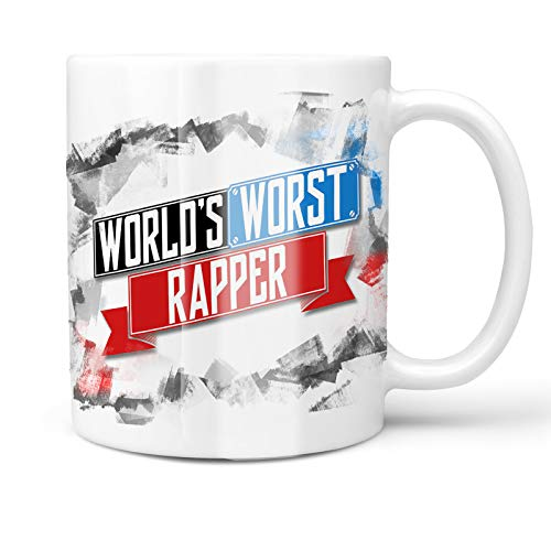 Neonblond 11oz Coffee Mug Funny Worlds worst Rapper with your Custom Name