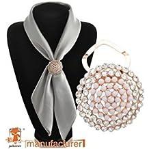 Estony Luxury Wedding Scarf Buckle Brooch Clips Pin For Women
