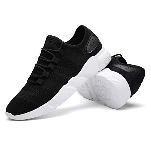 4. Prione Men's Black Men's Air Series Mesh Smart Shoes