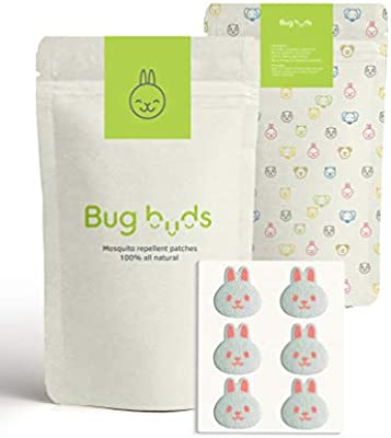 Bug Buds Mosquito Repellent Patch | DEET-Free 24hr All-Natural Bug Insect  Repellent Stickers for Kids | Picnic/Travel Accessories | Safe for Babies |